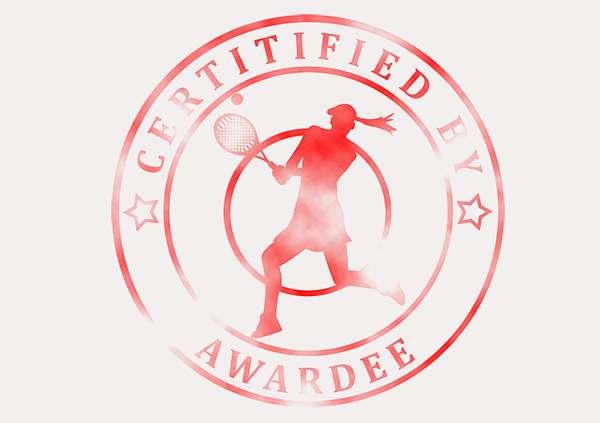 certificate-template-tennis-modern-5-grey-dlsr Image
