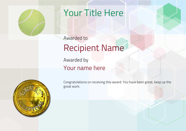 certificate-template-tennis-modern-5dcmg Image