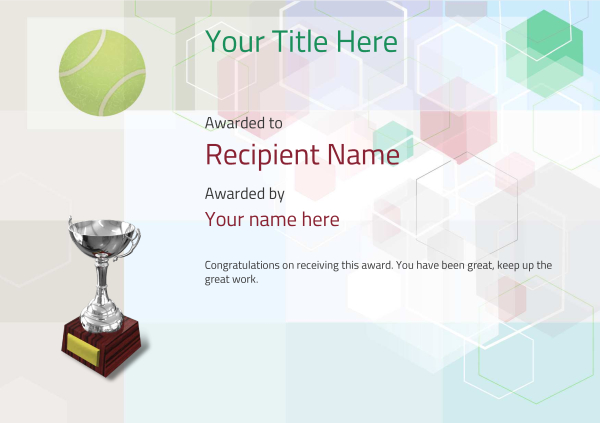 certificate-template-tennis-modern-5dt6s Image