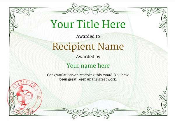 certificate-template-trail-biking-classic-2gtsr Image