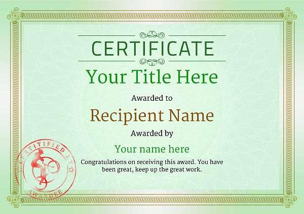 certificate-template-trail-biking-classic-4gtsr Image