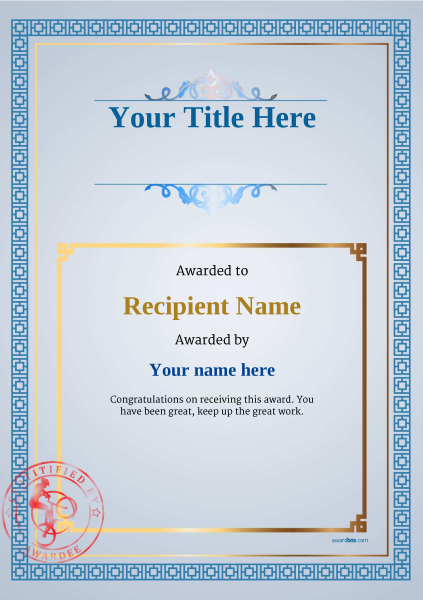 certificate-template-trail-biking-classic-5btsr Image