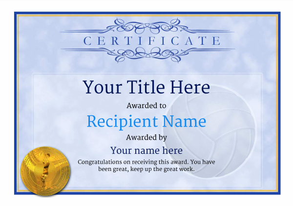 certificate-template-volley-ball-classic-1bvmg Image