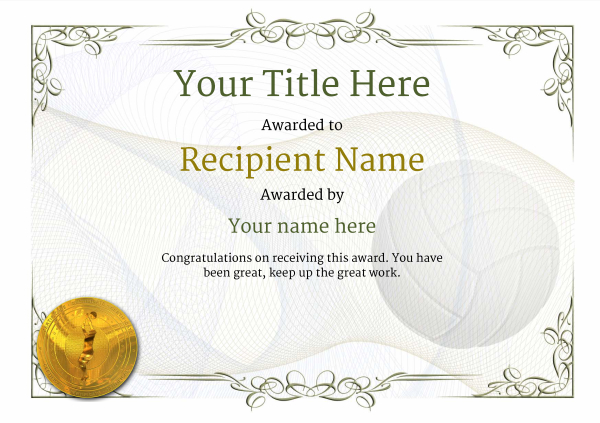 certificate-template-volley-ball-classic-2dvmg Image