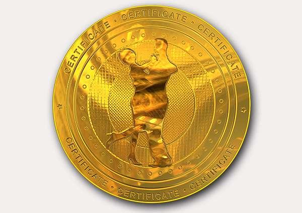 certificate-template-waltz-modern-1-grey-gwmg Image
