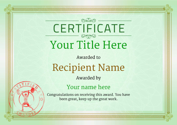 certificate-template-weightlifting-classic-4gwsr Image