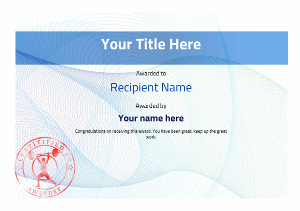 certificate-template-weightlifting-modern-3bwsr Image