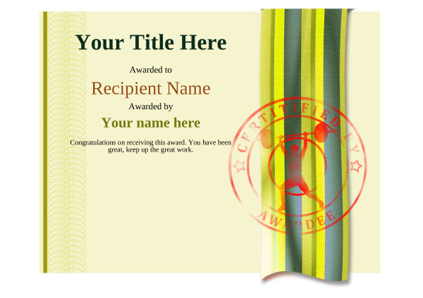 certificate-template-weightlifting-modern-4ywsr Image