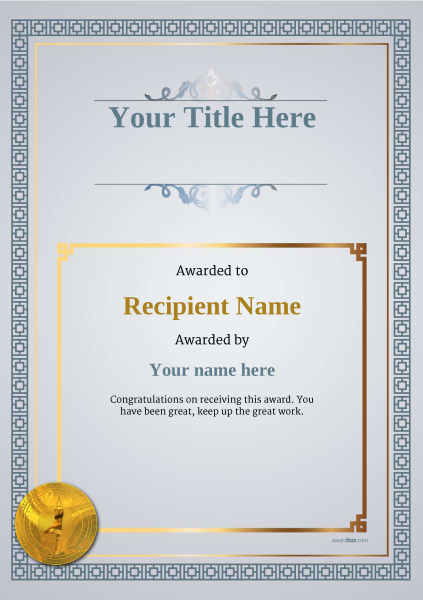 certificate-template-yoga-classic-5dymg Image