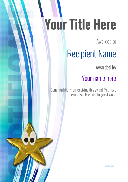 certificate-template-yoga-modern-1dsnn Image