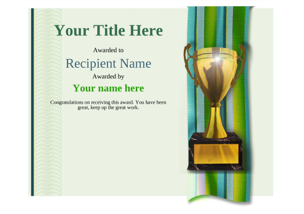 certificate-template-yoga-modern-4gt1g Image