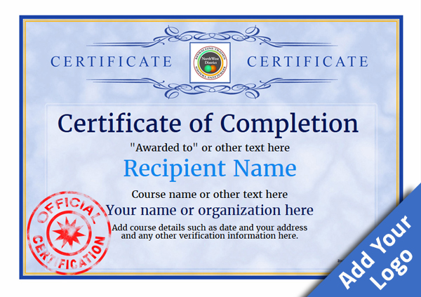 certificate-of-completion-template-award-classic-style-1-blue-stamp Image