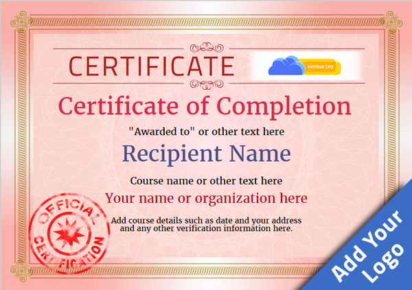 certificate-of-completion-template-award-classic-style-4-red-stamp Image