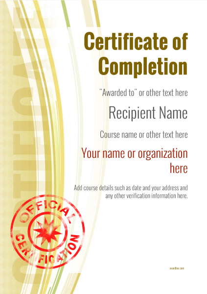 certificate-of-completion-template-award-modern-style-1-yellow-stamp Image