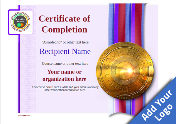 certificate-of-completion-template-award-modern-style-4-default-medal Image