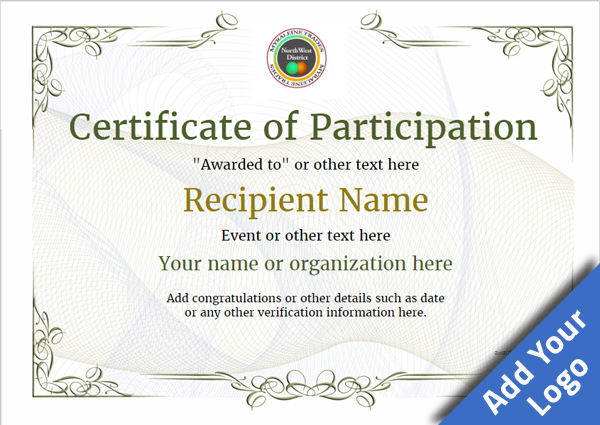 certificate-of-participation-template-award-classic-style-2-default-blank Image