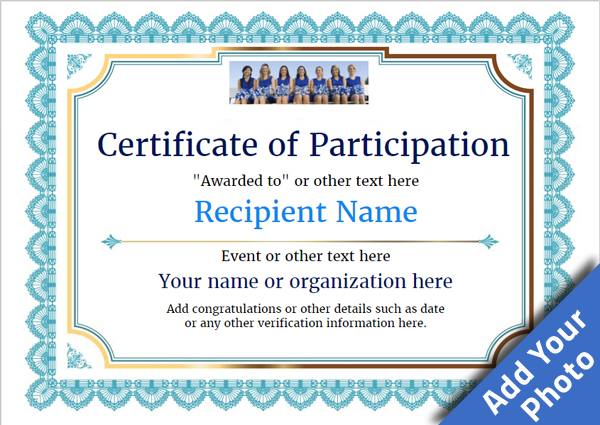 certificate-of-participation-template-award-classic-style-3-blue-blank Image