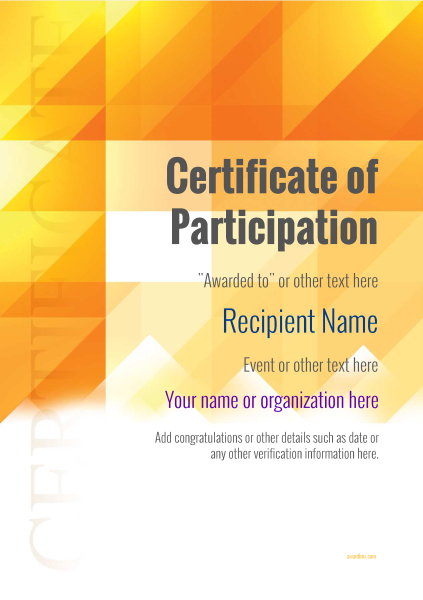 certificate-of-participation-template-award-modern-style-2-default-blank Image