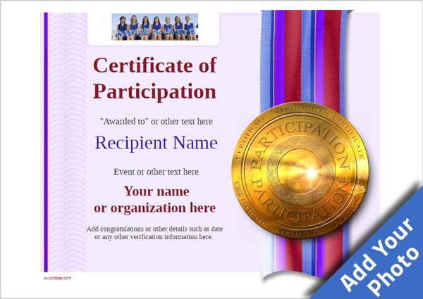 certificate-of-participation-template-award-modern-style-4-default-medal Image
