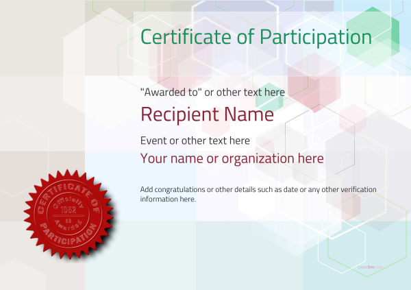 certificate-of-participation-template-award-modern-style-5-default-seal Image