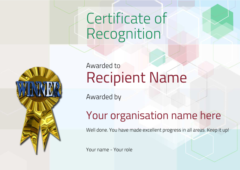 certificate-of-recognition-winner Image