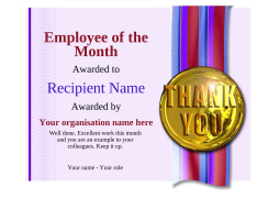 employee of the month printable certificate editable template with swappable decorations