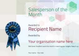 free editable salesperson of the month certificate template for print and download.
