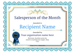 salesperson of the month free to edit certificate template and download for home or office use