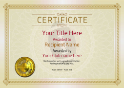 american football certificates awards and templates Image