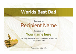 Worlds best dad certificates use free templates by awardbox best dad award certificate template image yadclub