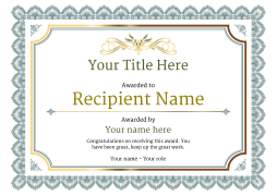 blank certificate template classic Image