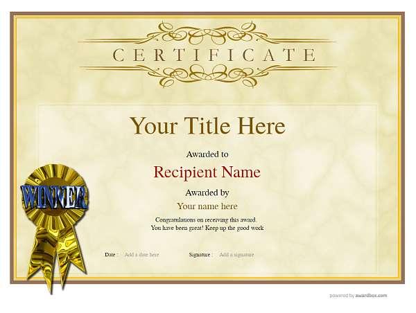 blank certificate template rosette Image