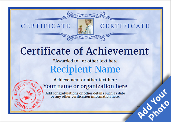 certificate of achievement template award classic style 1