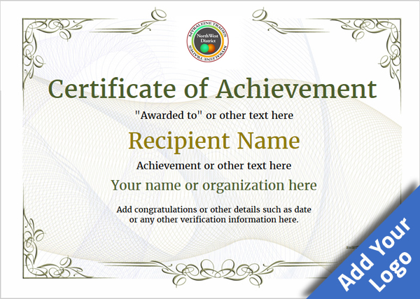 certificate-of-achievement-template-award-classic-style-2-default-blank Image