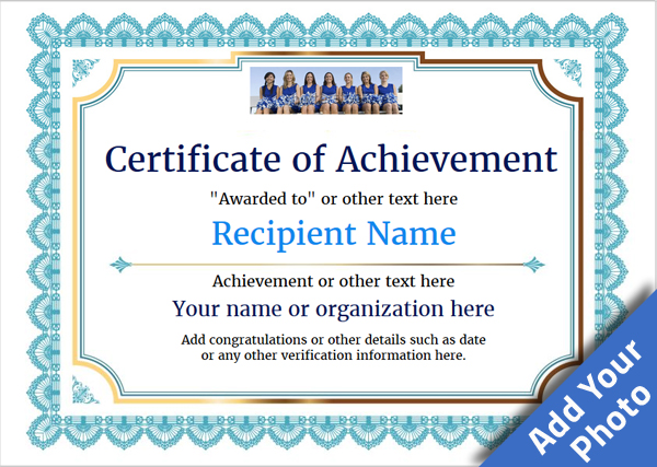 certificate-of-achievement-template-award-classic-style-3-blue-blank Image