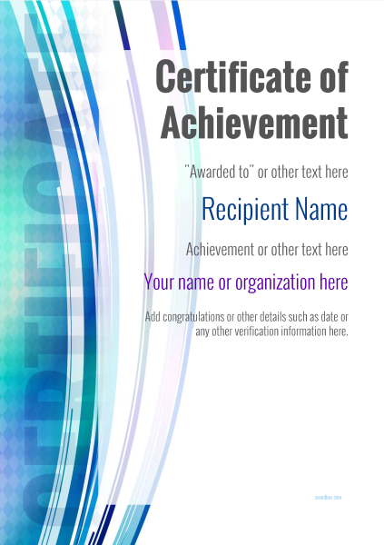 certificate-of-achievement-template-award-modern-style-1-default-blank Image