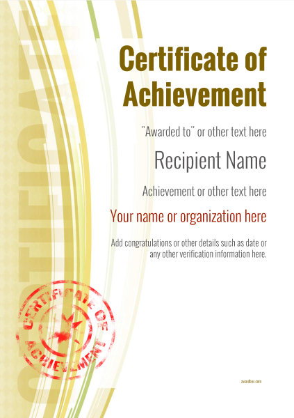 certificate-of-achievement-template-award-modern-style-1-yellow-stamp Image