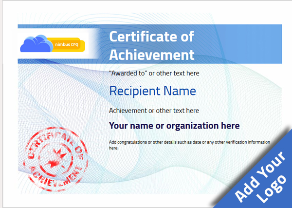 certificate-of-achievement-template-award-modern-style-3-blue-stamp Image