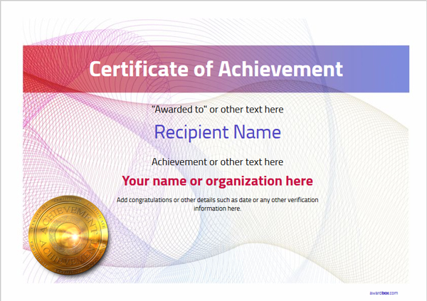 certificate-of-achievement-template-award-modern-style-3-default-medal Image