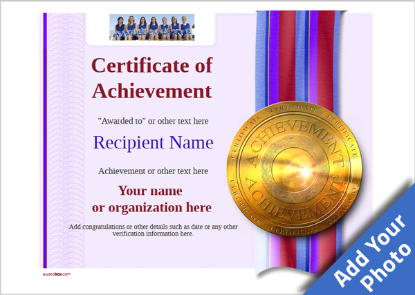 certificate-of-achievement-template-award-modern-style-4-default-medal Image
