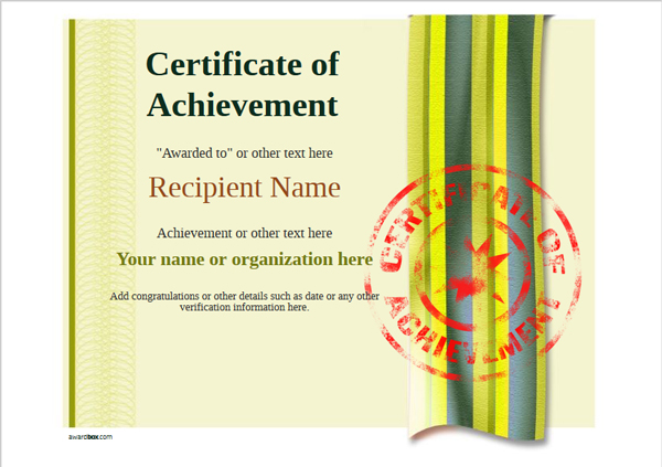 certificate-of-achievement-template-award-modern-style-4-yellow-stamp Image