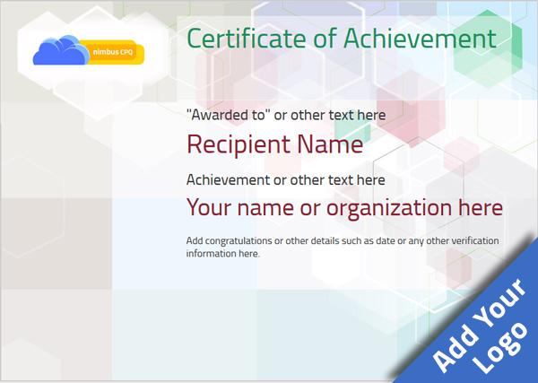 certificate-of-achievement-template-award-modern-style-5-default-blank Image