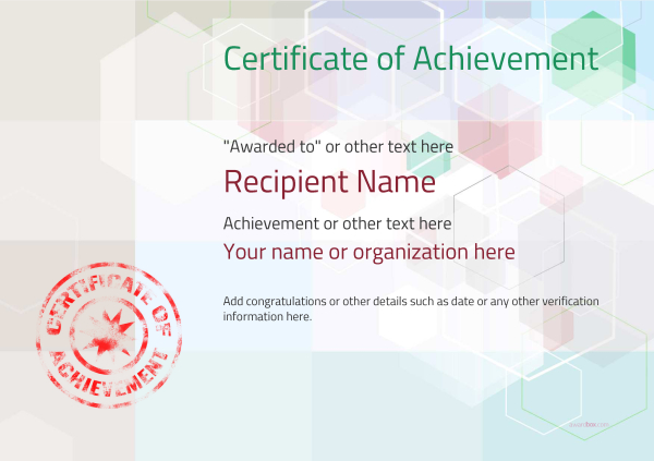 certificate-of-achievement-template-award-modern-style-5-default-stamp Image