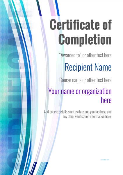 certificate-of-completion-template-award-modern-style-1-default-blank Image