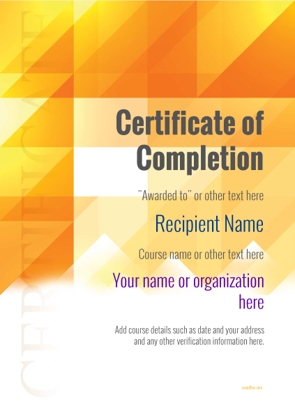 certificate-of-completion-template-award-modern-style-2-default-blank Image
