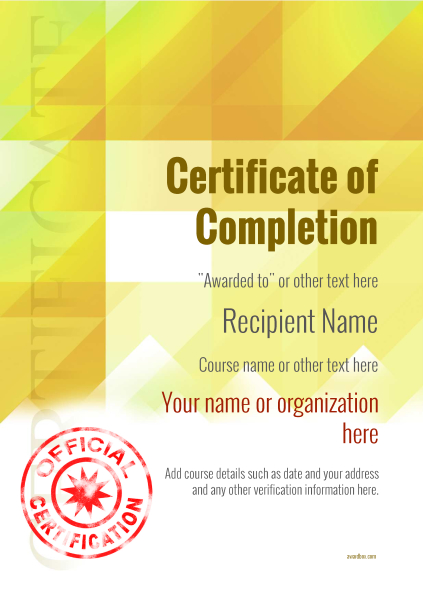 certificate-of-completion-template-award-modern-style-2-yellow-stamp Image
