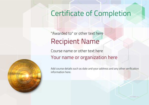 certificate-of-completion-template-award-modern-style-5-default-medal Image