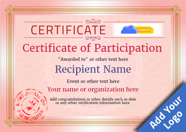 certificate-of-participation-template-award-classic-style-4-red-stamp Image