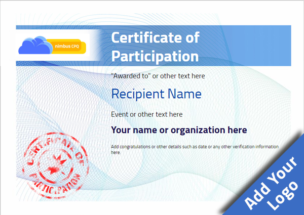 certificate-of-participation-template-award-modern-style-3-blue-stamp Image