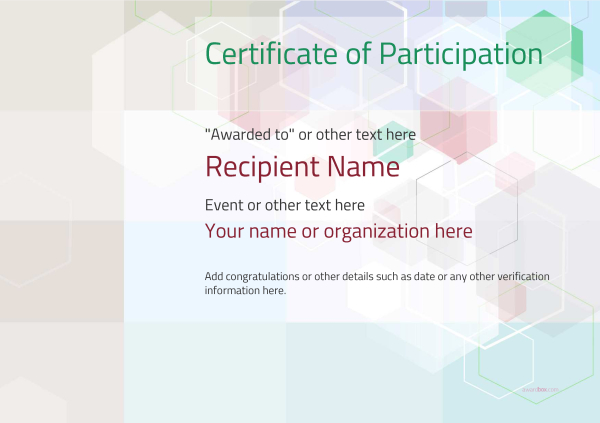 certificate-of-participation-template-award-modern-style-5-default-blank Image